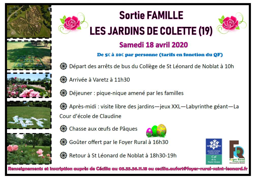 SORTIE FAMILLE AUX JARDINS DE COLETTE @ JARDINS DE COLETTE